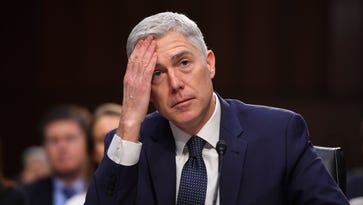 Supreme Court nominee Neil Gorsuch testifies before the Senate Judiciary Committee on March 22, 2017.
