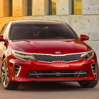 Kia is offering the first look at the 2016 Optima SX mid-size sedan