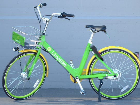 LimeBike is a dockless bike share system that allows