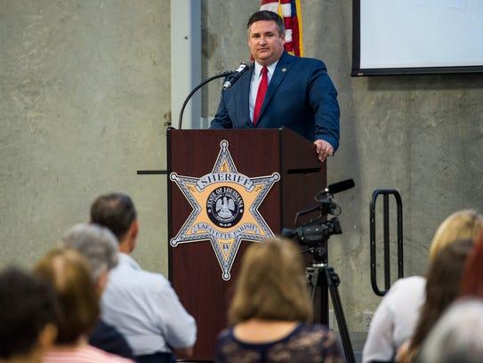 Lafayette Parish Sheriff candidate John Rogers speaks