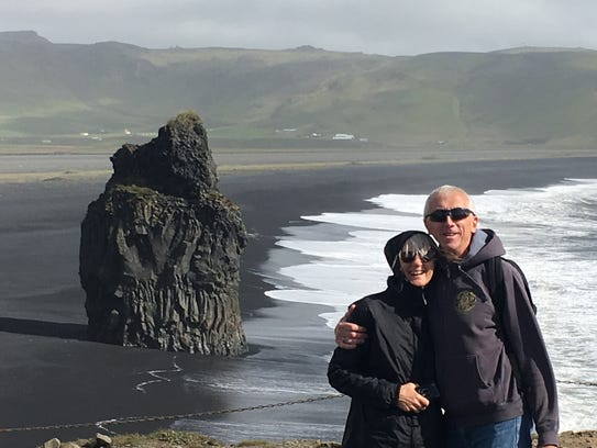 Karen and Bob Madden are shown during a visit to Iceland.