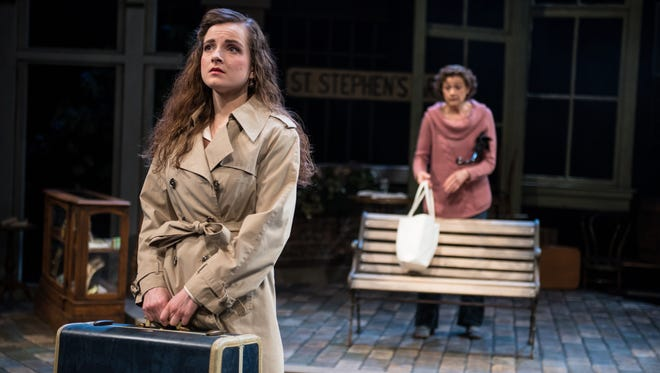 """Jordan Watson (left) and Carrie Hitchcock portray Irish women in Next Act's production of """"Bloomsday."""""""