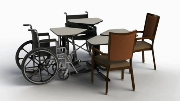 Alpine Supply in Plover is now offering a new wheelchair accessible table.
