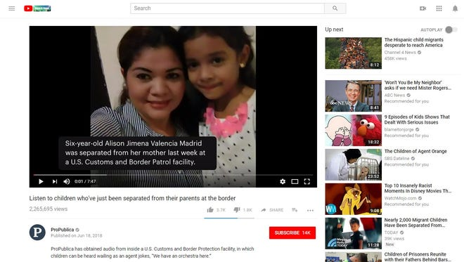 Audio of Alison Jimena Valencia Madrid, who was separated from her mother, crying at a detention facility went viral after ProPublica published it.