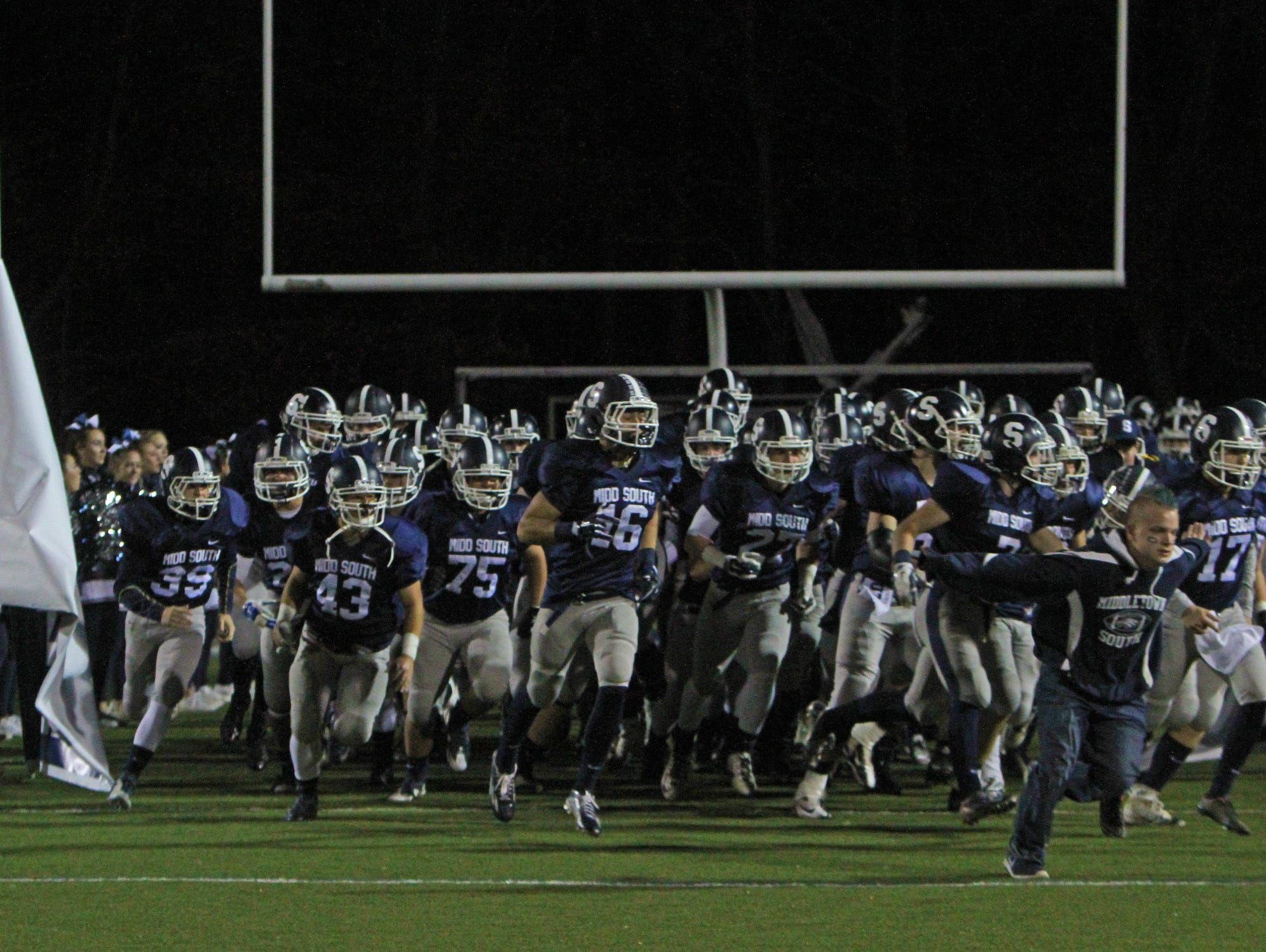Middletown North vs Middletown South in NJSIAA North II Group IV semifinal football in Middletown, NJ on November 20, 2015