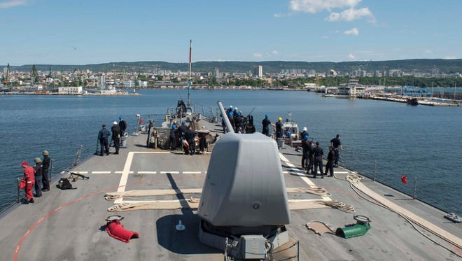 The USS Porter, a destroyer, arrived in Varna, Bulgaria, on June 7, 2016, in the Black Sea on a scheduled visit.