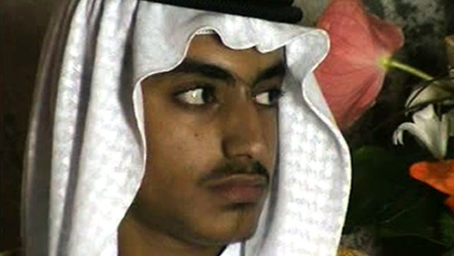 In this image from video released by the CIA, Hamza bin Laden is seen as an adult at his wedding. The never-before-seen video of Osama bin Laden's son and potential successor was released Nov. 1, 2017, by the CIA in a trove of material recovered during the May 2011 raid that killed the al-Qaeda leader at his compound in Pakistan.
