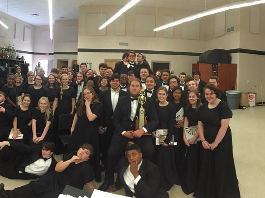 Parkway High School's concert band performed at a state