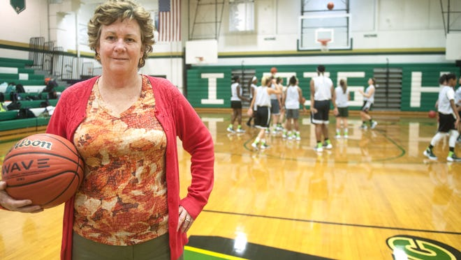 Camden Catholic girls' basketball coach Chris Palladino is one win away from No. 600 for her career.