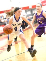 Falcon Gracen Donmoyer pushes past Lancaster Catholic's