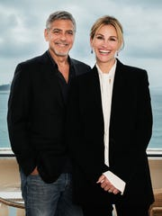 George Clooney and Julia Roberts at Cannes Film Festival in the south of France.
