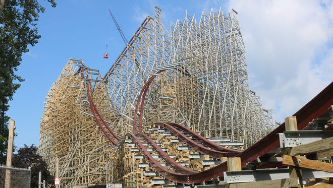 Cedar Point is transforming the roller coaster formerly known as Mean Streak, as construction crews add new red-colored steel track for an entirely new attraction set to open in 2018.