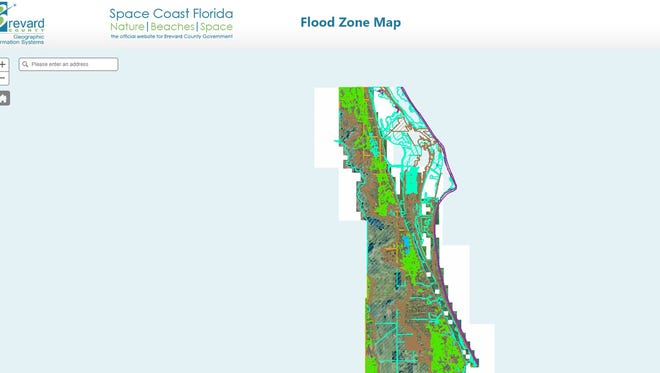 Brevard County has an interactive map to search for your flood risk.