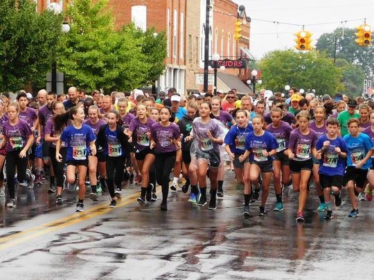 Hundreds of runners participated in the 2016 annual Alexa Brown Memorial 5K Run/Walk in Clyde.