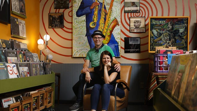 Amy Kesting and Brett Ruland, the wife-and-husband owners of Spoonful Records, are celebrating the 10-year anniversary of their store in Columbus.