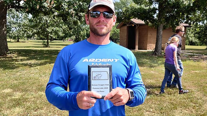 Topeka's Dustin Hobbs took first place Sept. 6 at the Kansas Crappie Club fishing tournament on Pomona Reservoir.