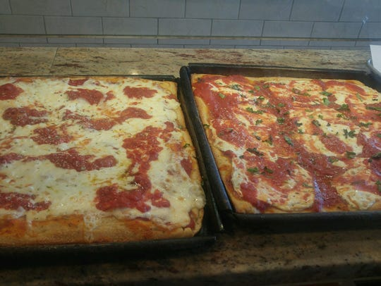 Specialty pizzas at Brothers Pizza in East Brunswick.