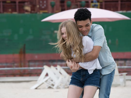 "Rhiannon (Angourie Rice, left) falls in love with ""A"" (Justice Smith), who Inhabits a different body each day, in the romance ""Every Day."""