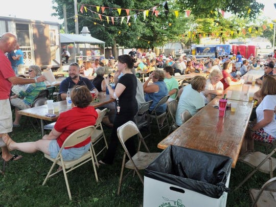 The beer gardens began to fill after the opening ceremony of a past Volksfest at Germania Maennerchor in Evansville.