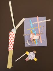 A paper collage made by a Culver Family Learning Center