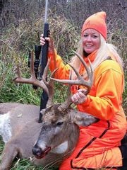 Cara Thompson watched deer patiently for two years on trail cams in Green County, and took advantage of an opportunity in 2016 to harvest this buck.