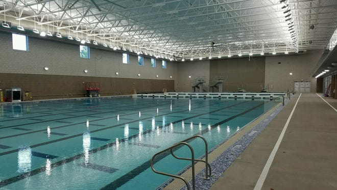The Midco Aquatic Center officially opens in October.
