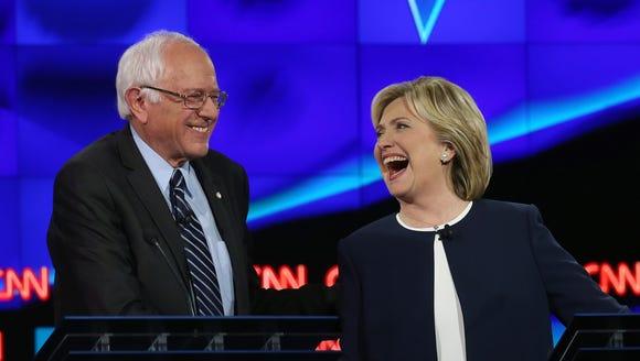 Democratic presidential candidates U.S. Sen. Bernie