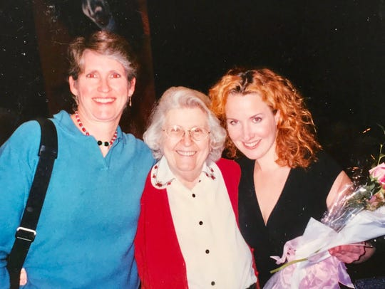 Vali Forrister, right, with her mother and her sister-in-law,