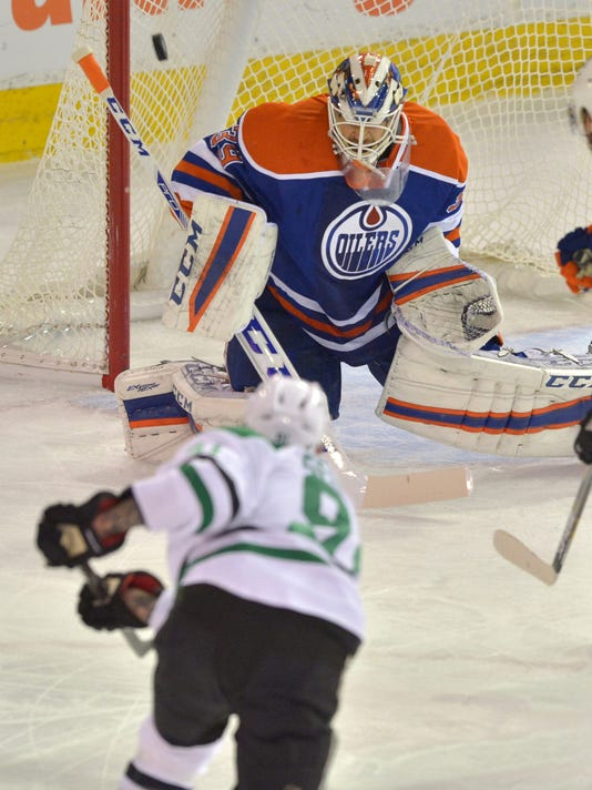 new style 3472c 5ac9f Anders Nilsson makes 42 saves, Oilers beat Stars 2-1 in OT