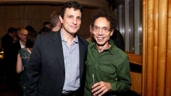 """The New Yorker"" editor David Remnick, left, and writer Malcolm Gladwell at a festival this month."