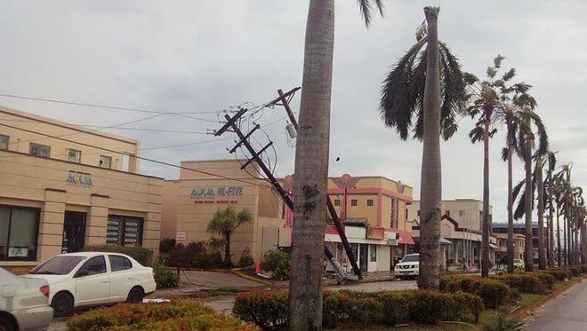 Typhoon Soudelor damage in Saipan on Aug. 3, 2015.