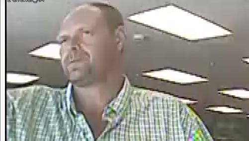 This man is believed to have stolen property from a Newark business Monday afternoon. Anyone with information on his identity or whereabouts is asked to call police.