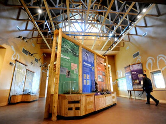 Inside the Red River Refuge center in south Bossier are a number of displays.