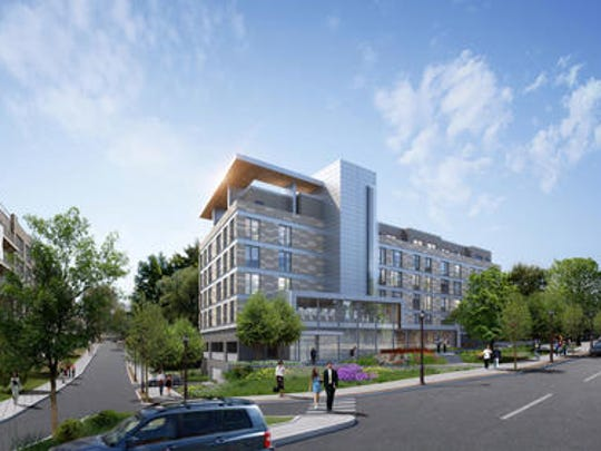 Rendering of One Dekalb apartment development in White
