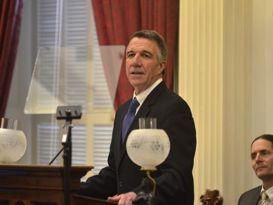 Gov. Phil Scott presents his first proposed budget