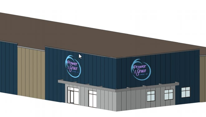 An architect rendering of the new Power & Grace Gymnastics gym planned for the Sanford Sports Complex