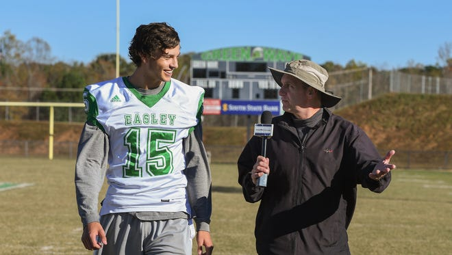 """Easley junior quarterback Weston Black is featured in this week's edition of """"100 Yards with Bob Castello."""""""