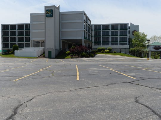 The former Holiday Inn and Quality Inn on National