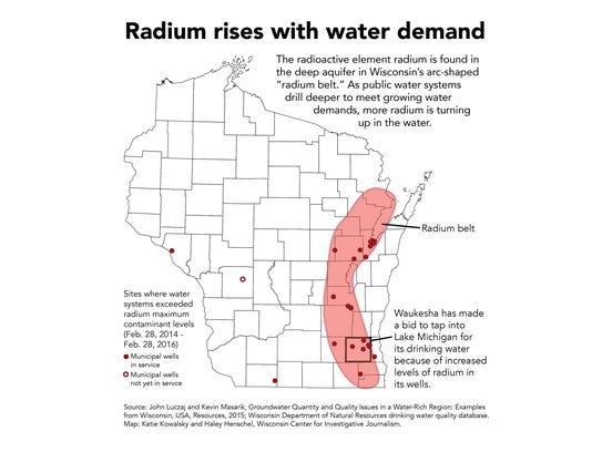 "Wisconsin's ""radium belt"" stretches across northeast"