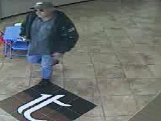 Authorities are searching for this man, who robbed the Tennessee Credit Union, 10431 Kingston Pike, on Monday, April 30, 2018.