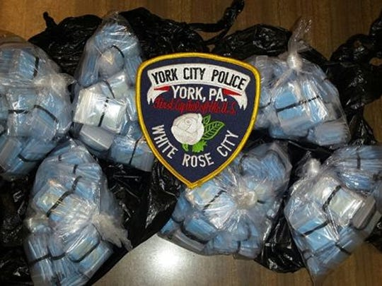Police confiscated $25,000 in heroin from a man they say has been bringing major shipments of heroin into York City every week.