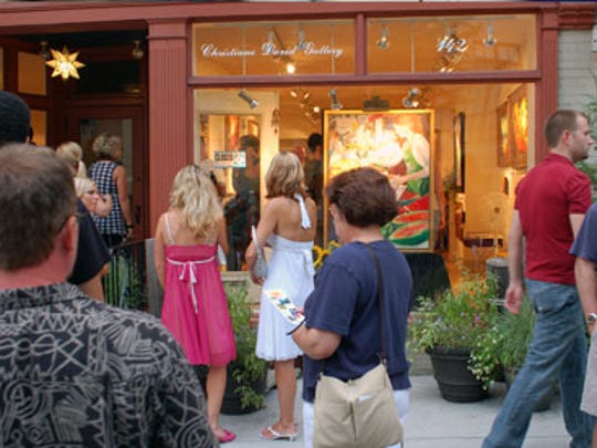 Christiane David Gallery, 112 N. Prince St., Lancaster, participates in the city's Art Walks, self-guided tours of downtown galleries and exhibits.