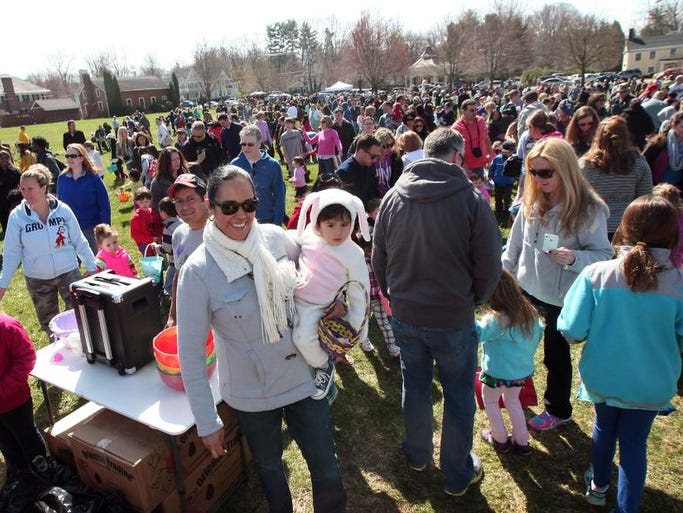 The 20th Annual Chester Easter Egg Hunt at Gazebo Field, sponsored by The Historic Chester Business Association, April 19, 2014, Chester, NJ.
