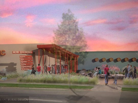 The new Lyric Cinema Cafe building will be much larger and have a third screen.