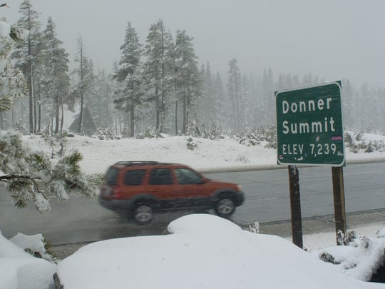 Make sure to carry chains in your car, as weather can deteriorate quickly over Donner Summit.