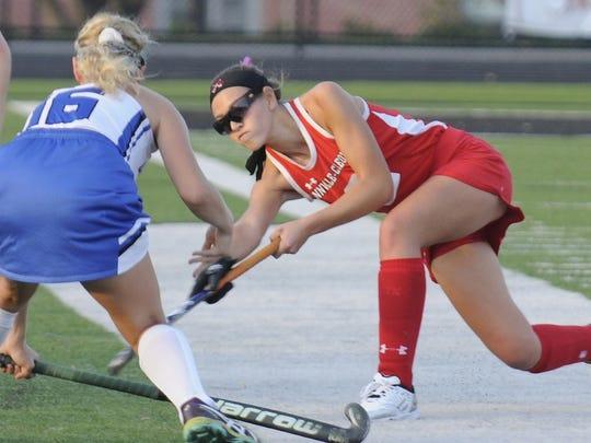 Lauren Schrader has helped the Annville-Cleona field hockey team to a 4-0 start this season..