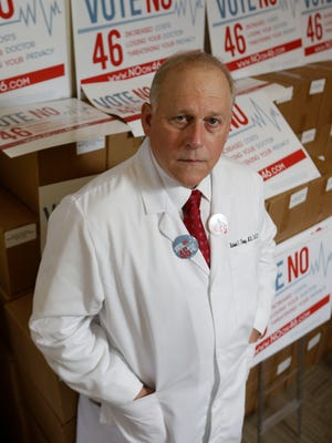 Dr. Richard Thorp, president of the California Medical Association, which opposes Proposition 46.