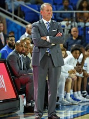 MTSU coach Kermit Davis looks on during a game against Belmont in Murphy Center on Nov. 16, 2017.