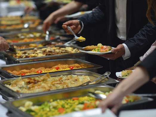 Buffet foods: Buffets present a series of logistical