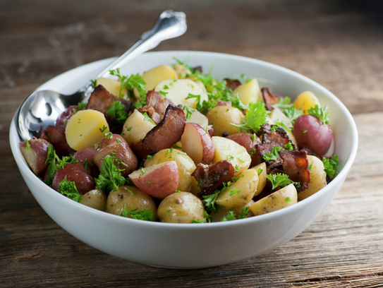 Bacon parsley potato salad
